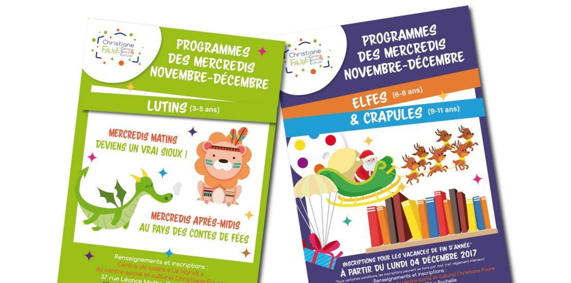 Programmes des mercredis novembre-décembre 2017