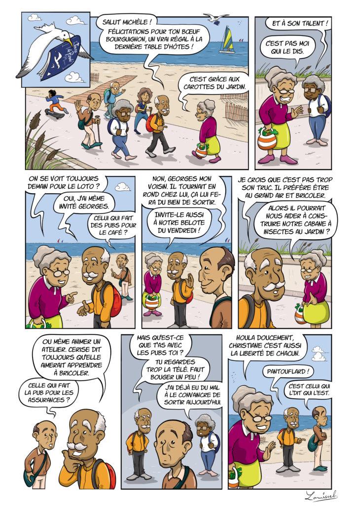 Christiane en bande dessinée
