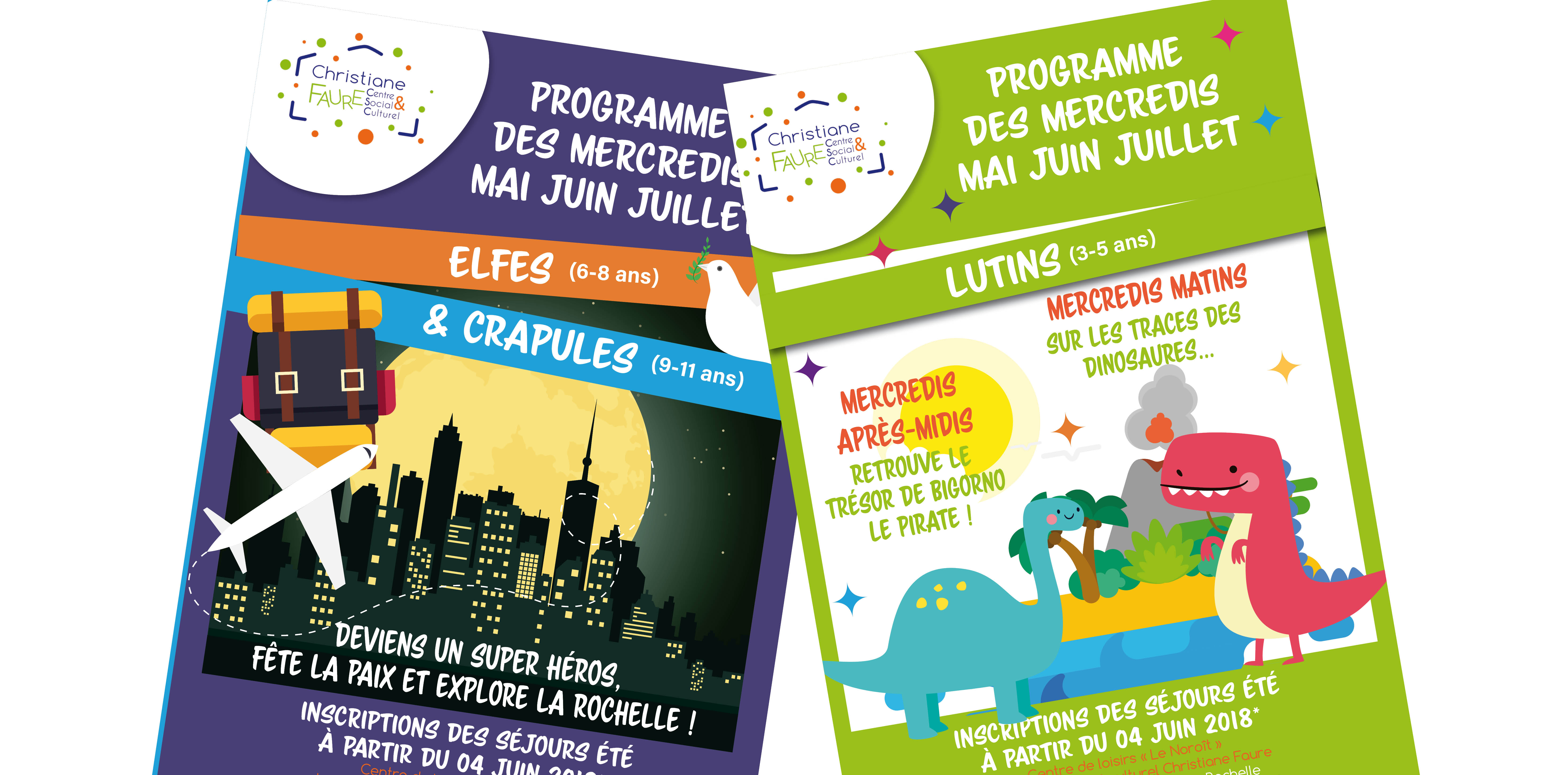 Programmes des mercredis mai juin juillet 2018
